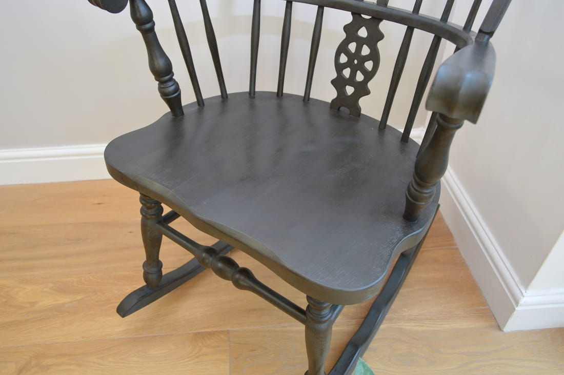 Fine Graphite Blue Windsor Rocking Chair Inzonedesignstudio Interior Chair Design Inzonedesignstudiocom